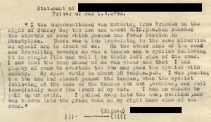 Datganiad tyst, papurau crwneriaid 1936. CRD/1693