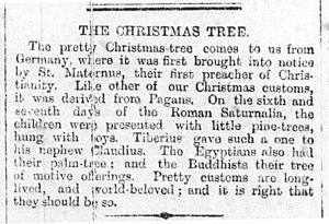 'The Christmas Tree', o'r Denbighshire Free Press, 5 Ionawr 1895