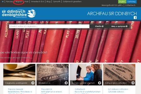 welsh homepage