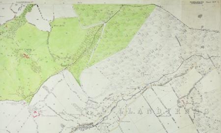 Map AO argraffiad cyntaf, Llandyrnog